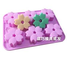 Floral Cherry blossoms Soap Mold Cake Mold Silicone Mould For Candy Chocolate