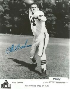 OTTO GRAHAM--SIGNED IN PERSON 8X10 PHOTO-PRO FOOTBALL  HALL OF FAME-ENSHRINED