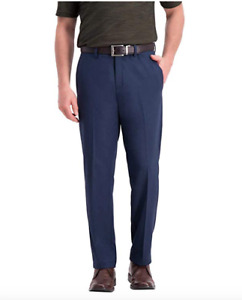 HAGGAR IN MOTION Men's Super Flex Waistband Performance Pant Variety