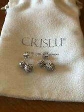 CRISLU  Sterling Silver Cubic Zirconia Earrings