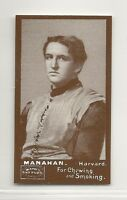 1894 N302 Mayo Cut Plug Football Reprint - Tom Manahan - Harvard Crimson