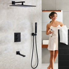 Matte Frosted Black Bath Mixer Tap Thermostatic Bathroom Shower Faucet Set