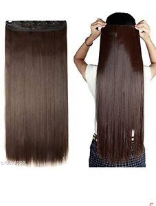 Hair extension style 20inch 95g/6pcs Clip in Human Hair Extensions Dark Brown
