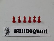 Lot of All 6 Red Generals Parts Pieces Only Conquest of the Empire Board Game