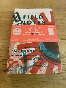 Field Notes MxLxBxD Sealed Memo Books Mondo LandLand Burlesque DDC
