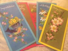 Vintage All Occasion Cards Lot Of 5 With Envelopes Unused