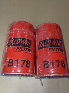 2-Qty Baldwin Oil Filters B178 Spin-On, Full-Flow for Audi BMW Porsche VW Deutz