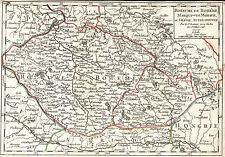 Böhmen Mähren Schlesien Landkarte Vaugondy 1749 kolorierter Kupferstich Original