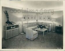 1946 1940s Living Room Angled Sofa Vintage Console Radio Stereo Press Photo