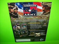 Global VR AMERICA's ARMY 2007 Original NOS Video Arcade Game Promo Sales Flyer