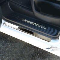 """Schätz ® Einstiegleisten """" Premium"""" Edelstahl Mercedes Vito/V-Klasse W447 Chrom"""