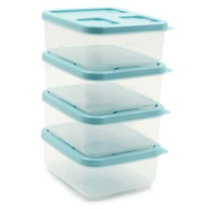 4pk Rubbermaid LunchBlox Sandwich Food Storage Container, Fresh Stack & Lock Lid
