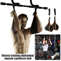 Hanging Ab Straps Padded Ab Sling Abdominal Crunch Gym Leg Raise Pull Up Chin Up