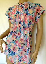 Hip Length Business Floral Other Women's Tops