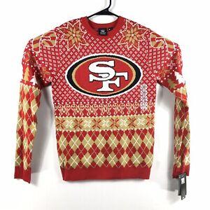 San Francisco 49ers Christmas Sweater Mens NFL Team Apparel Klew NWT