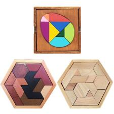 Wooden Board Puzzles Educational Game Toys Tangram for Adults Children