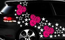 93-teiliges Sterne Würfel Cube Star Auto Aufkleber Tuning WANDTATTOO Blumen xxa