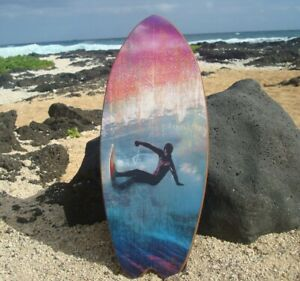 LARGE SURFER SURFING Tropical Island Blue Wave Beach Surfboard Sign Decor - NEW