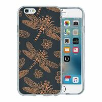 For Apple iPhone 6 6S Silicone Case Dragonfly Pattern - S7410