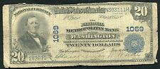 1902 $20 THE NATIONAL METROPOLITAN BANK OF WASHINGTON, DC CHARTER #1069