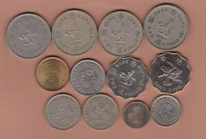 12 HONG KONG 1874 TO 1993 IN FINE TO NEAR MINT CONDITION