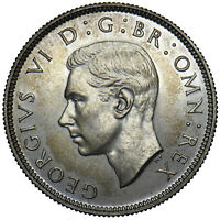 1937 PROOF FLORIN - GEORGE VI BRITISH SILVER COIN - SUPERB