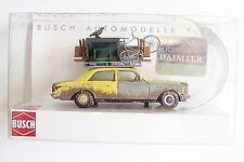 HO Busch 1977 Weathered Mercedes Benz W123 with OVER-Loaded Roof Rack # 46858