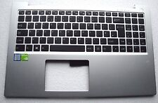 PC Specialist Clevo Topstar U953 Silver Palmrest Top Case Chassis UK Keyboard