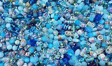 LAMPWORK Glass Bead Mix 50g Aqua Mix Jewellery Making