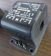 LEM LT 100-S / CH-1228 CURRENT MODULE / TRANSDUCER 12-18V, 25OHM, 1:1000 RATIO