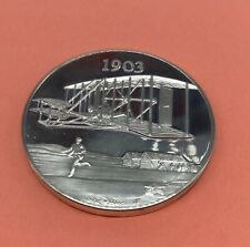 Wright Brothers At Kitty Hawk Sterling Silver Commemorative Coin 1903 33.3 Grams
