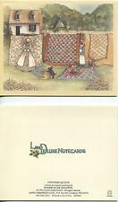VINTAGE COUNTRY WHITE HOUSE CLOTHESLINE QUILTS SCOTTY DOG WASH DAY GARDEN 1 CARD