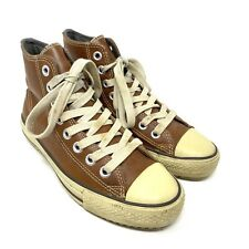 Converse All Star Leather Hi Top Trainers Size UK 7 EU 40 Brown Chuck Taylor