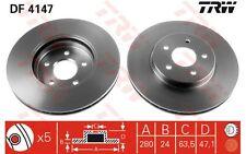 TRW Juego de 2 discos freno Antes 300mm ventilado FORD MONDEO JAGUAR DF4147