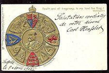 Royalty EDWARD VII Coronation Tuck #610 1902 Embossed Heraldic u/b PPC