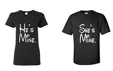 Couple T Shirt -   He is Mine She is Mine Couple Shirt -  Couple Tee