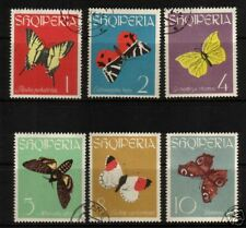 ALBANIA 1963 BUTTERFLIES SET 6 FU