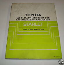 Workshop Manual Toyota Starlet Ep 70,71 Chassis / Body, Piece 10/1984
