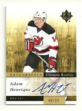 2011-12 Upper Deck Ultimate Collection Rookie Auto #136 ADAM HENRIQUE  #40/99 SP