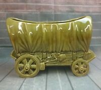 VINTAGE SHAWNEE POTTERY COVERED WAGON PLANTER #733