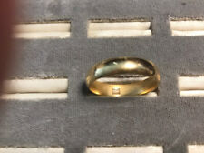 18K Solid Yellow Gold Wedding Band 6.36 GRams Size 11