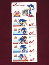 Sonic the Hedgehog belge TIMBRES! Euro Neuf Sega 20th PROMO Merch