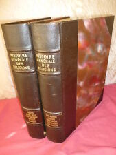 HISTOIRE GÉNÉRALE DES RELIGIONS 2 vols in-folio