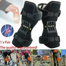 Pair Joint Support Brace Knee Pads Booster Lift Squat Sports Power Spring Force