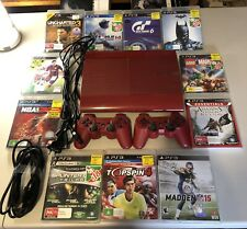 PS3 Special Edition Red + 2 Controllers + 11 Games + Cords