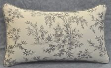 Pillow made w Ralph Lauren Saint Honore Gray Floral Fabric 20x12 NEW trim cord