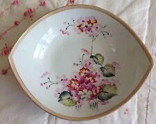 "7"" Imperial Nippon Japan Bowl Hand Painted  Porcelain Floral Asian Design"