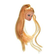 """Cabeza de muñeca de oro cabello lacio largo para 11  """"s muñeca SP"""