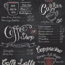 Coffee Shop Blackboard Wallpaper - Rasch 234602 Retro 2xrolls