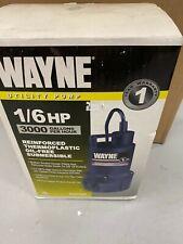 Wayne Sump Pump, 1/6 hp, 3000 gph, RUP160, NEW in Box